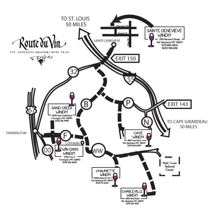 Route du Vin - Trail Map